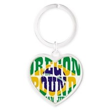 Oregon Pound BJJ Heart Keychain