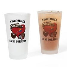 Colombia_Corazon Drinking Glass