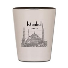Istanbul_10x10_BlueMosque_Black Shot Glass