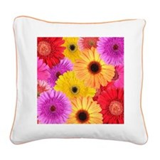 GERBER DAISIES Square Canvas Pillow