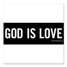 "Unique God is love Square Car Magnet 3"" x 3"""