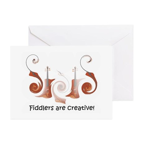 Violin Fiddle Greeting Cards (Pk of 10)