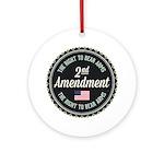 Second Amendment Round Ornament