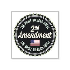 "Second Amendment Square Sticker 3"" x 3"""