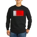 Bahrain Bahraini Flag Long Sleeve Dark T-Shirt
