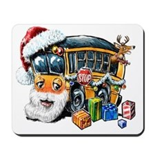 Santa School Bus Mousepad