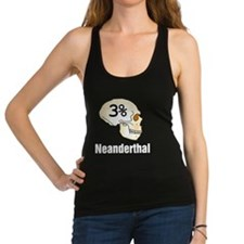 Three Percent Neanderthal Racerback Tank Top
