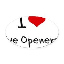 I love Eye Openers Oval Car Magnet