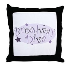"""Broadway Diva"" [purple] Throw Pillow"