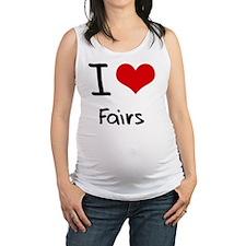 I Love Fairs Maternity Tank Top
