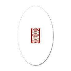 Citizenship Door Sticker 20x12 Oval Wall Decal