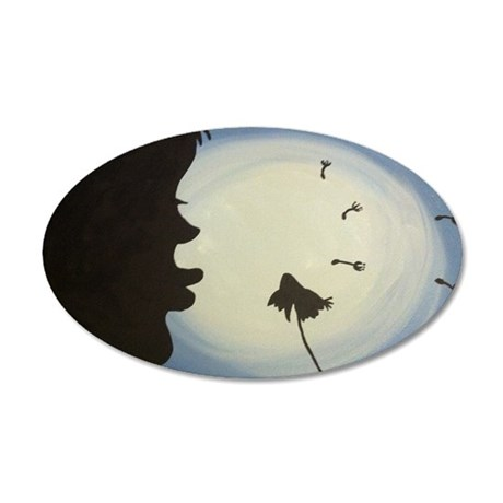 Dandelion Wishes 35x21 Oval Wall Decal