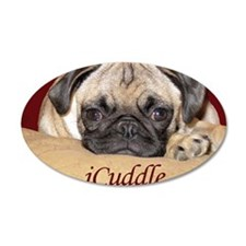 Adorable iCuddle Pug Puppy Wall Decal