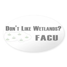facu bumper sticker white Decal
