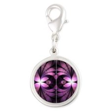 Fairy Wings Silver Round Charm