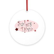 """Sales Diva"" [red] Ornament (Round)"
