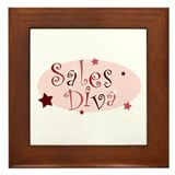 """Sales Diva"" [red] Framed Tile"