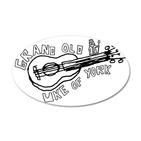 Grand Old Uke of York 35x21 Oval Wall Decal