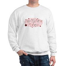 """Real Estate Diva"" [red] Sweatshirt"