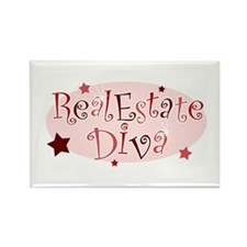 """Real Estate Diva"" [red] Rectangle Magnet"