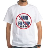 No Shark Fin Soup T-Shirt (White)