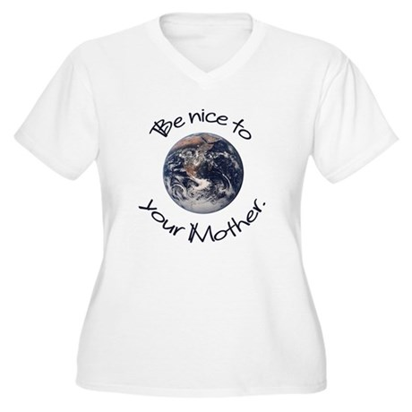 Be Nice Women's Plus Size V-Neck T-Shirt
