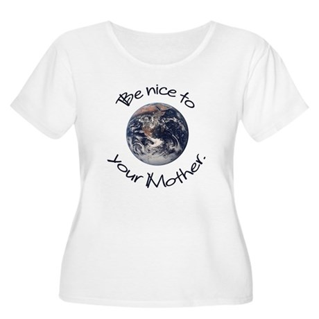 Be Nice Women's Plus Size Scoop Neck T-Shirt