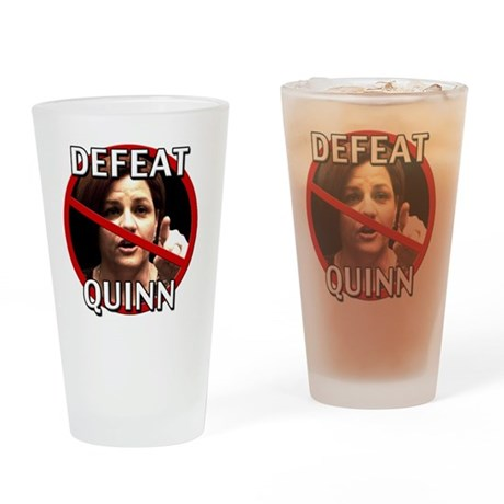 Defeat Christine Quinn Drinking Glass