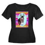 Horses and Mules Women's Plus Size Scoop Neck Dark