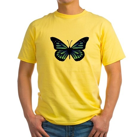 Blue Butterfly Yellow T-Shirt