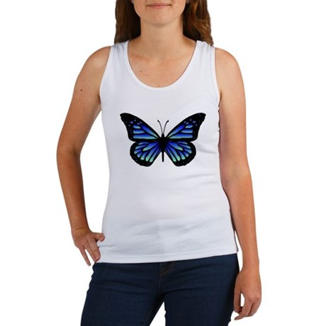 Blue Butterfly Women's Tank Top
