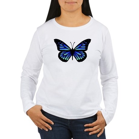Blue Butterfly Women's Long Sleeve T-Shirt