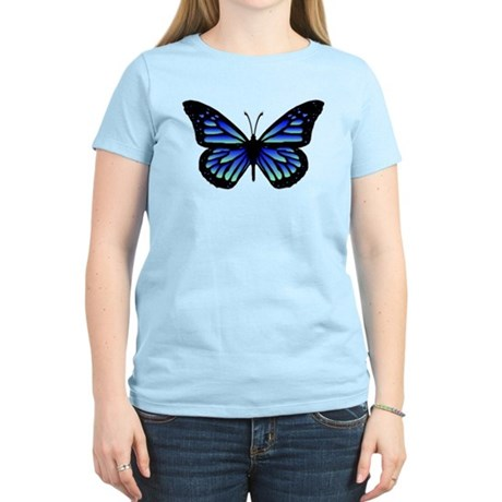 Blue Butterfly Women's Light T-Shirt