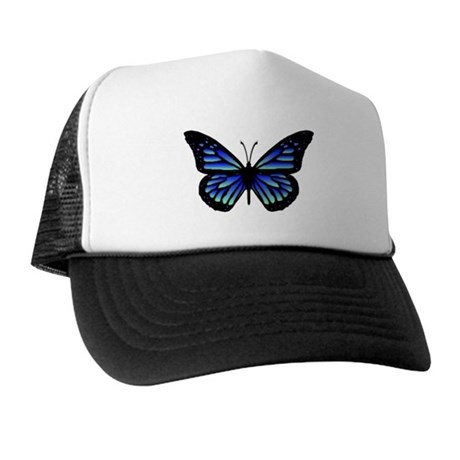 Blue Butterfly Trucker Hat
