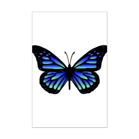 Blue Butterfly Mini Poster Print
