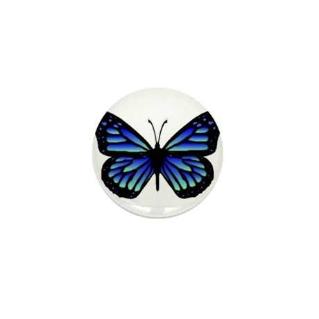 Blue Butterfly Mini Button (10 pack)