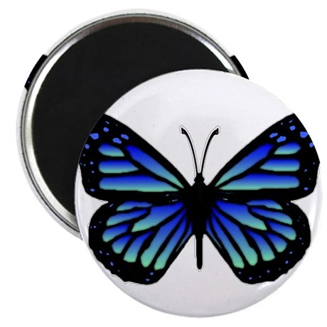 "Blue Butterfly 2.25"" Magnet (10 pack)"