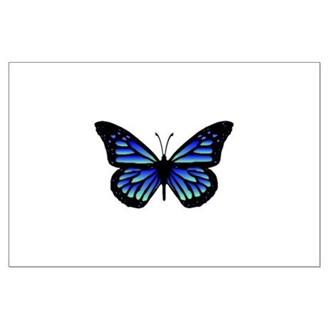Blue Butterfly Large Poster