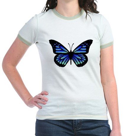 Blue Butterfly Jr. Ringer T-Shirt