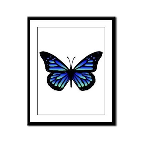 Blue Butterfly Framed Panel Print