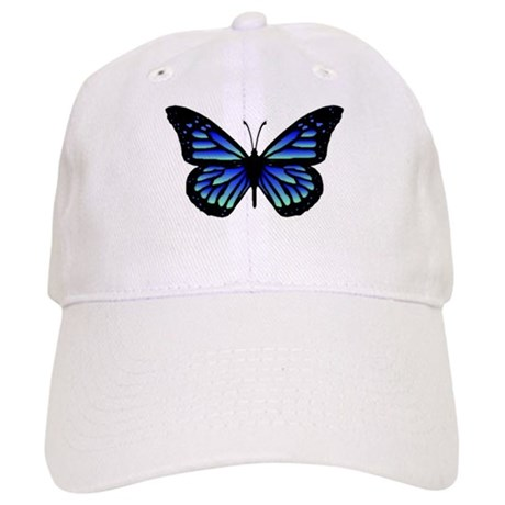 Blue Butterfly Cap