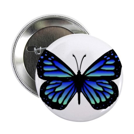 "Blue Butterfly 2.25"" Button (100 pack)"