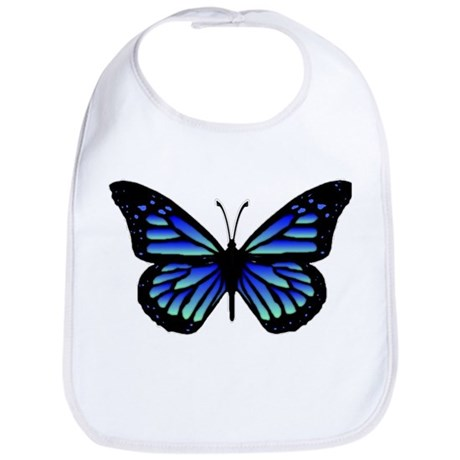 Blue Butterfly Bib