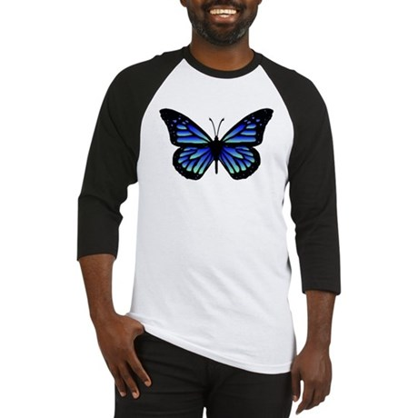 Blue Butterfly Baseball Jersey