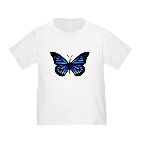 Blue Butterfly Toddler T-Shirt