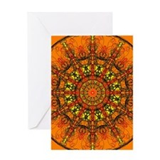 Harmony in Orange Greeting Card