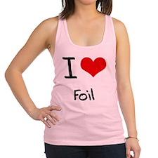 I Love Foil Racerback Tank Top