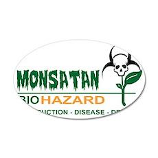 Monsanto Logo 2 35x21 Oval Wall Decal