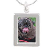 It's a real live Ewok! Silver Portrait Necklace