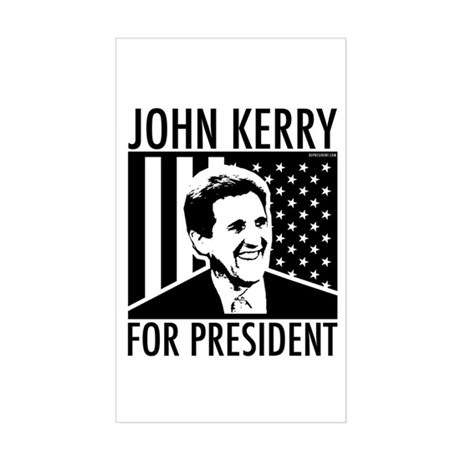 John Kerry for President Rectangle Sticker